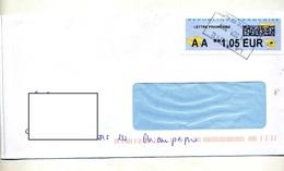 Lettre Cachet Rectangulaire Toulouse ? Sur Vignette AA - 2000 «Avions En Papier»