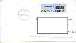 Lettre Cachet Bordeaux Sur Vignette AA - 2000 «Avions En Papier»