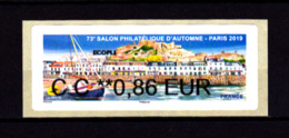 ATM LISA NABANCO, Ecopli CC 0.86 Jersey, Salon Automne 2019 - 2010-... Abgebildete Automatenmarke