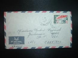 LETTRE TP ALOES 25F OBL. HEXAGONALE Tiretée 29-5 1967 Pour GENDARMERIE MOBILE CHARTRES (28) - Lettres & Documents