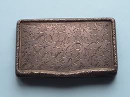 Silver Box / Doosje 54 X 90 Mm. ( Marks / Marques > See / Voir Photo ) Zilver Argent Silver 90 Gr. ) Uncleaned ! - Argenteria