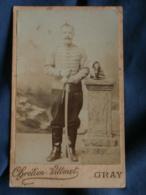 Photo CDV  Vittenet à Gray  Militaire  12e Hussard  CA 1890 - L189 - Photographs