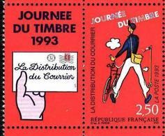 FRANCE Yvert N° 2793 émis Uniquement En Carnet AVEC LOGO. Neuf Sans Charnière. MNH. JOURNEE DU TIMBRE 1993 - Unused Stamps