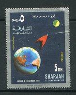 SHARJAH- Timbre Oblitéré (Apollo 8) - Espacio