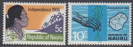 Nauru 1968 - Independence - Mi 83-84 ** MNH - Nauru