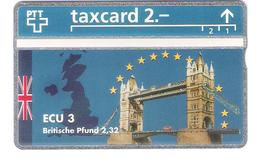 Schweiz - Switzerland - ECU 3 - Great Britain - 2,- PTT - 510L - Mint - RRR - Schweiz
