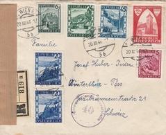 Autriche Lettre Recommandée Censurée Wien Pour La Suisse 1946 - 1945-60 Lettres