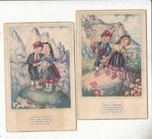 CPA - Illustrateur E. Girona - Corrandes Catalanes - Montserrat - 2 Cartes      - Achat Immédiat - (cd009) - Andere Illustrators
