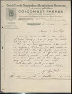"""Courrier """" Colcombet Frères - Mercurey - Fournisseurs Des Hôpitaux De Paris, Lyon... """" 13 Aout 1904 - France"""