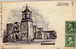 383/ Greetings From San Antonio Texas, Mission San Jose, 1905 - San Antonio