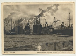 AK  Hamburg Werft Anlagen - Barcos