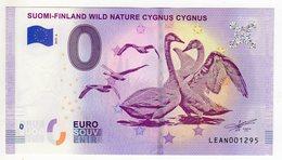 2019-6 BILLET TOURISTIQUE FINLANDE 0 EURO SOUVENIR N°LEAN001295 SUOMI FINLAND WILD NATURE CYGNE - EURO