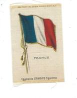 FRANCE Drapeau Français Sur Soie 80 X 55 Mm TB 2 Scans Pub : Cigarettes égyptiennes 2 Scans - Cromos