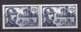 N° 1052 40ème Anniversaire De La Mort Du Colonel Emil Driant: Belle Paire De 2 Timbres Neuf Impeccable - Ongebruikt