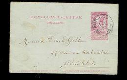 Enveloppe-lettre 2b De SC Beauraing Vers Chatelet 21 MAI 1898 - Entiers Postaux