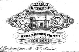 Magasin De Toiles Vandenpeereboom Delacroix Fabrique De Bleu D'azur  11x7 Cm  Courtrai - Kortrijk - Kortrijk