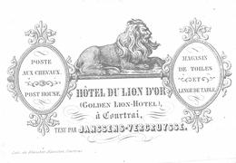 Hotel Du Lion D'Or  Janssens-Vercruysse  10x7 Cm  Courtrai - Kortrijk - Kortrijk