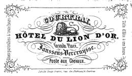 Hotel Du Lion D'Or  Janssens-Vercruysse Poste Aux Chevaux 7.5x4.5 Cm  Courtrai - Kortrijk - Kortrijk