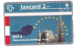 Schweiz - Switzerland - PTT - ECU 3 -  Austria - 2,- PTT - 510L - Mint - RRR - Suisse