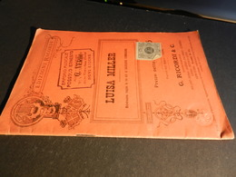 9) GIUSEPPE VERDI LUISA MILLER LIBRETTO D'OPERA EDIZIONE RICORDI 1908 CIRCA - Opéra