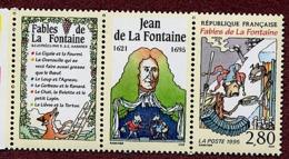 FRANCE  Jean De La Fontaine La Cigale Et La Fourmi. Yvert N° 2958 Avec 2 Vignettes Logo Attenant. ** MNH - Frankreich
