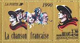 FRANCE  Aristide BRUANT. Yvert N° 2649 Avec 2 Vignettes Logo Attenant. ** MNH - Francia