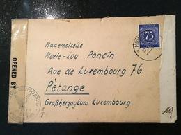 Luxembourg Lettre Avec Contenu Avec Bande De Censure 1946 München - Luxemburg