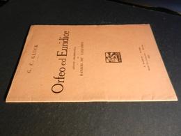 9) GLUCK ORFEO ED EURIDICE LIBRETTO D'OPERA EDIZIONE BARION 1931 - Opéra