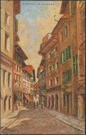 LM Long - A Street In Lucerne, 1913 - Photochrom Postcard - LU Lucerne