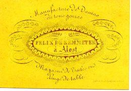 Aalst :porseleinkaartje 10,5 X 7 Cm Felix DeKemmeter - Cartes Porcelaine