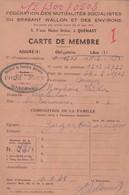 Quenast, Carte De Membre. - Documents Historiques