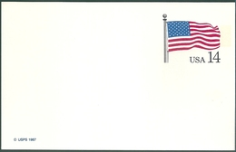 B4069 USA 1987 Flag Unused Postcard - Covers