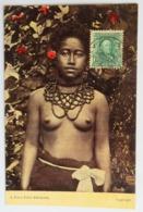 C. P. A. Couleur : SAMOA : A PAGO PAGO Princess, Naked, Seins Nus, SUPERBE Et Très RARE - American Samoa