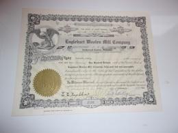 ENGLEHART WOOLEN MILL COMPANY (U.S.A.) 1956 - Shareholdings