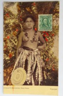 C. P. A. : SAMOA Couleur : A Chief's Daughter, Naked, Seins Nus, SUPERBE Et Très RARE - Samoa Americana