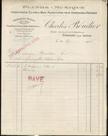 """Facture """" Pianos Musique - Charles Boudier - Chalon Sur Saône """" - 10 Mai 1913 - France"""