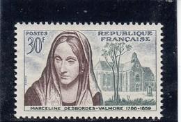 France - 1959 - N° YT 1214** - Marceline Desbordes-Valmore - Unused Stamps