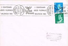34824. Carta VALENCIA 1983. Rodillo Especial LO RAT PENAT, I Centenari Jocs Florals - 1981-90 Cartas