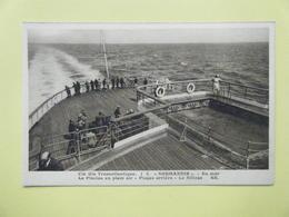 LE HAVRE. La Compagnie Générale Transatlantique. Le Paquebot Normandie. Les Plages Arrière Et La Piscine De Plein Air. - Port