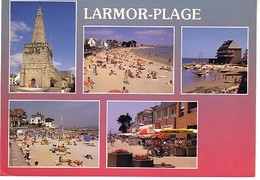 Larmor 5 Vues: Plage , L'église , Le Port , La Plage De Toulhars - Unclassified
