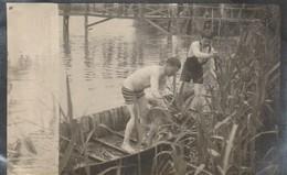 """Photo 1915 Ferme De BEAULIEU à MARAINVILLER (Croismare Près Lunéville) - La Baignade Avec """"Piccionni"""" (A216, Ww1, Wk 1) - Francia"""