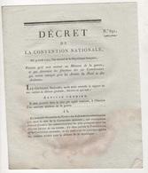 1793 - DECRET CONVENTION NATIONALE MINISTRE DE LA GUERRE / ARMEES DU NORD & DES ARDENNES - 52 HAUTE MARNE JOINVILLE - Gesetze & Erlasse
