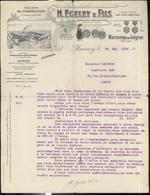 """Courrier """" Ateliers De Construction De Machines Agricoles Egeley & Fils """" - 23 Mai 1919 - France"""