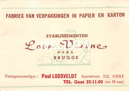 Commerciële Kaart - Fabriek Van Verpakkingen In Papier En Karton Leon Viaene - Bruges Brugge - Brugge