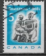 Canada 1968. Scott #488a (U) Christmas, Eskimo Family Carving - Single Stamps