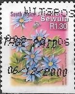 SOUTH AFRICA 2001 Flora And Fauna - (1r.40)  Blue Marghuerite FU - África Del Sur (1961-...)