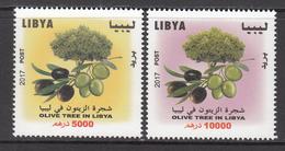 2017 Libya Olive Trees  Complete Set Of 2 MNH - Libye