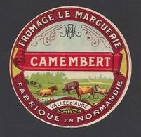 Etiquette  Fromage Camembert -  Le Marguerie  -    Fabriqué En Normandie  Vallée D'Auge - Cheese