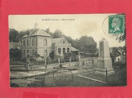CPA -  Saveuse  -(Somme) - Mairie Et Ecole - Autres Communes