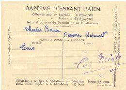 OCCITANIE HERAULT CESSERAS BAPTÊME D'ENFANT PAIEN AFRIQUE SOEURS TRINITAIRES OEUVRES PONTIFICALES DE LA SAINTE ENFANCE - Documentos Históricos